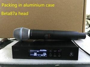 Image 2 - Qlxd4 QLXD4 BE87a المهنية uhf في الهواء الطلق ميكروفون لاسلكي للكاريوكي