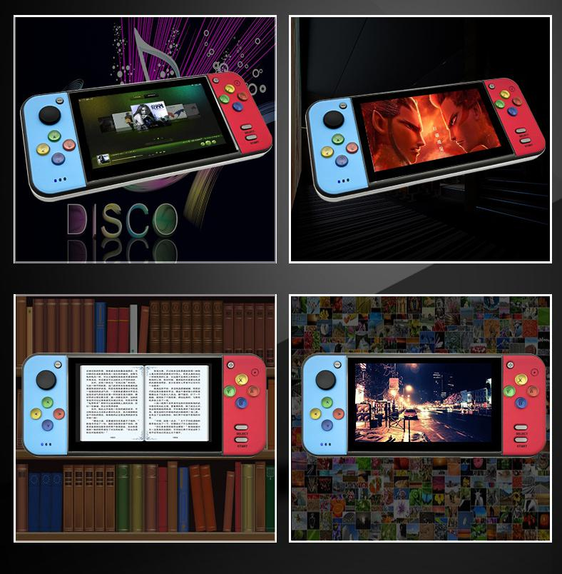 Сайт coolbaby RS11 5 дюйма HDMI ностальгические портативных игровых консолей мульт эмулятор джойстика кнопка регулятор игры для PSP денди ГКП