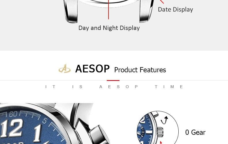 He2a4a92969264e268fec49ad473c48944 AESOP Luminous Automatic Mechanical Watch Men Luxury Brand Business Waterproof Stainless Steel Male Clock Relogio Masculino 2019
