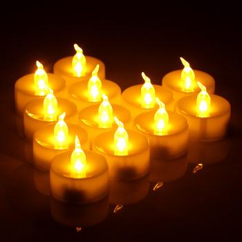 Opakowanie 12 zdalnych lub nie zdalnych świec noworocznych zasilany z baterii podgrzewacze Led podgrzewacze fałszywe światło świec Led świeca wielkanocna tanie i dobre opinie ABEDOE Świeczka led Filar Home decoration Świeca lampy Bezpłomieniowe Other LED candle light