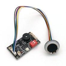 K200 3.3 placa de controle de impressão digital + R502 A módulo de impressão digital circular anel led controle de acesso