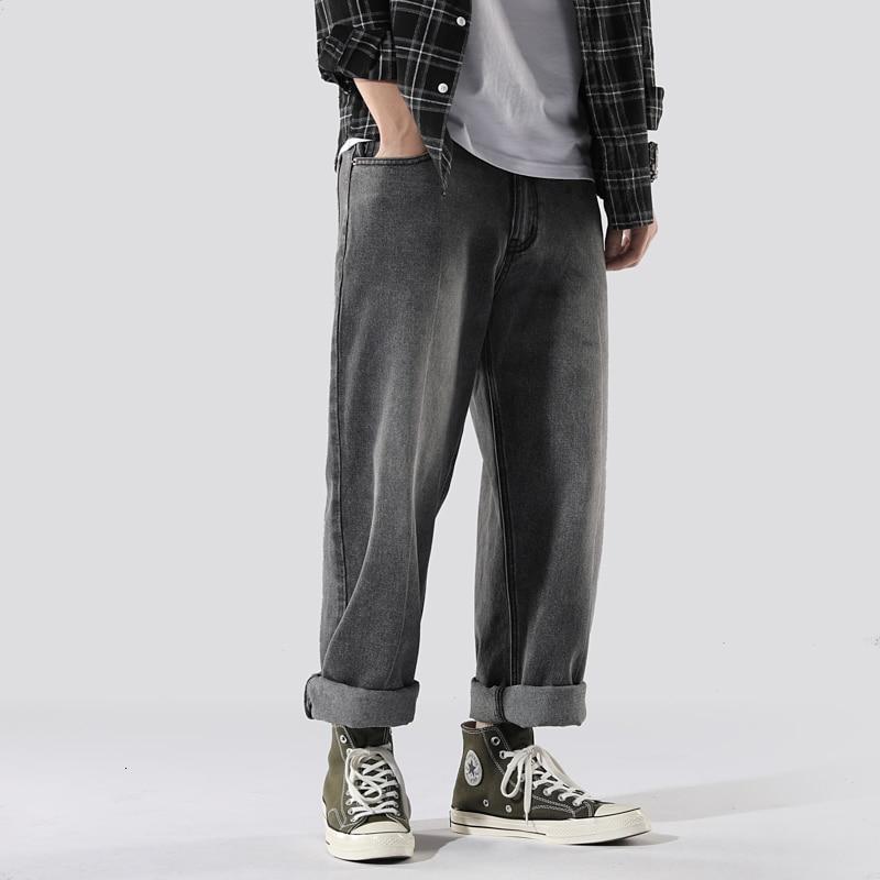 Autumn New Straight Jeans Men Fashion Washed Retro Casual Denim Trousers Man Streetwear Wild Hip Hop Jeans Pants Men M-3XL