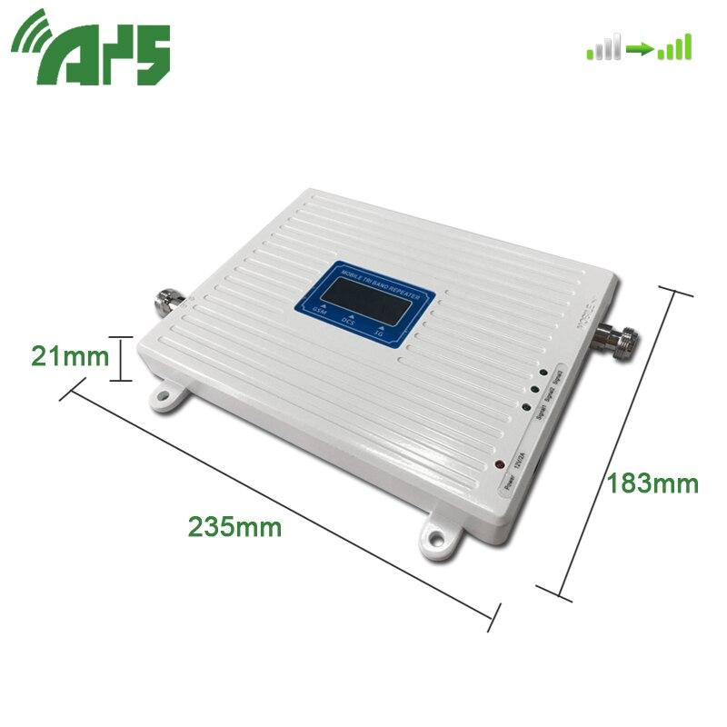 GSM 2G 3G 4G teléfono celular de refuerzo Tri banda amplificador de señal móvil LTE repetidor de celular GSM DCS WCDMA 900, 1800, 2100 - 5