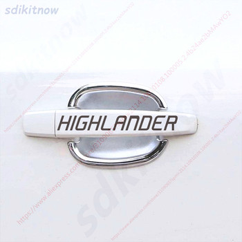 4pcs Car Door Handle Doorhandle Decal Sticker Styling Decoration For toyota highlander 2011-2018 accessories image