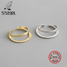 S'STEEL 925 Sterling Silver Rings For Women Statement Gold Ring Sortijas De Plata De Ley Mujer Pierscionki Srebrne Fine Jewelry