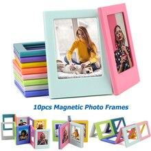 다른 색상의 10 조각 Fujifilm Instax Mini 8 7S 25 50 70 90 liplay link 인스턴트 사진 3 인치 마그네틱 프레임