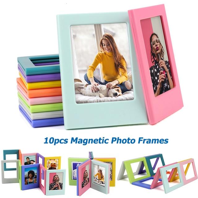 10 шт. разных цветов Fujifilm Instax Mini 8 7S 25 50 70 90 liplay link мгновенная фотография 3 дюйма Магнитная Рамка