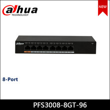 Dahua poe switches PFS3008-8GT-96 8-port gigabit ethernet poe switch suporte hi-poe 60w ieee802.3af e ieee803.3at interruptor de alimentação