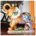 Европейская ручная роспись счастливый красивый слон Художественная Скульптура Статуэтки животных креативная Керамика ремесло украшения ...