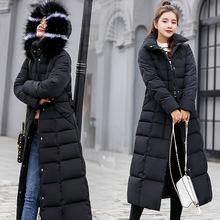 Женское утепленное пальто на хлопковом наполнителе черная длинная