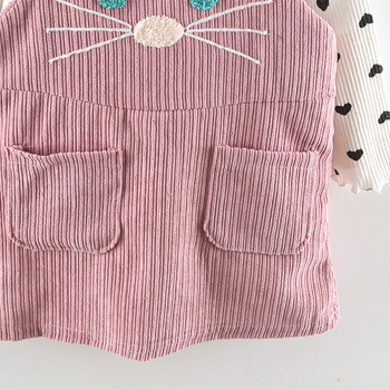 Cute Cat Strap Clothes Sets for Girls 6