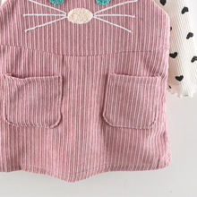 Kids Baby Girls Clothes Sets Dot T-shirt+ Cat Strap Dress