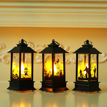 1pcs Halloween Artificial Flame Decor Pumpkin Witch Ghost Decoration LED Lights Handheld Oil Lamp Party