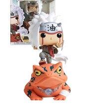 Pop naruto jiraiya no sapo #73 com caixa figura de ação collectible modelo brinquedos para chlidren