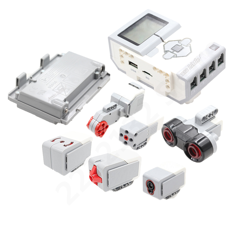 New Technic Mindstorms EV3 45500 45544 PF Parts Lithium Battery 95646 95656 DIY Educational Building Blocks Toys