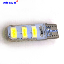 Dôme de voiture en Silicone T10 6 SMD 200 LED, 5630 pièces, W5W 194 6LED 6SMD 5730, lampe de stationnement à LED 12V 100X