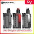 Le plus récent Kit DOVPO Topside Lite Vape 90W alimenté par une seule batterie 21700/20700 Cigarette électronique Vaper Mods e cigs vape kit