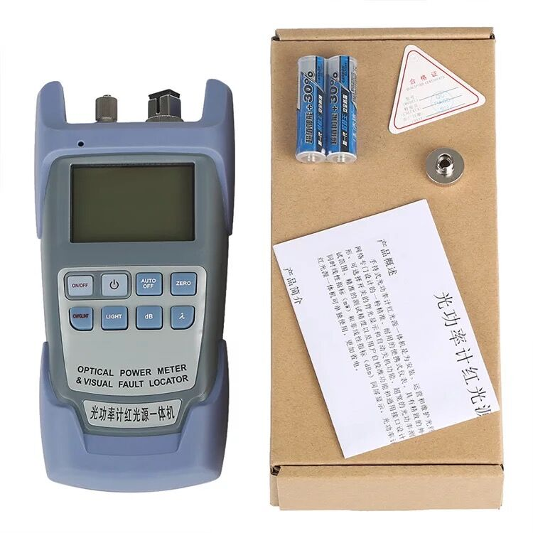 1MW AUA-9A Optical Power Meter Red Light Machine Fiber Light Decay Tester Red Light Pen 1-5 Km