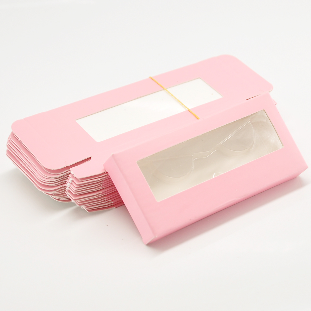 Wholesale Paper Eyelash Packaging Box Lash Boxes Packaging Custom Logo Faux Cils Fake Mink Eyelashes Rectangle Case Bulk Vendors