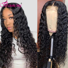 Bouncing Water Wave Wig Closure Wig Brazilian Human Hair Curly 4x4 Closure Wig For Black Woman Natural Wig With Baby Hair