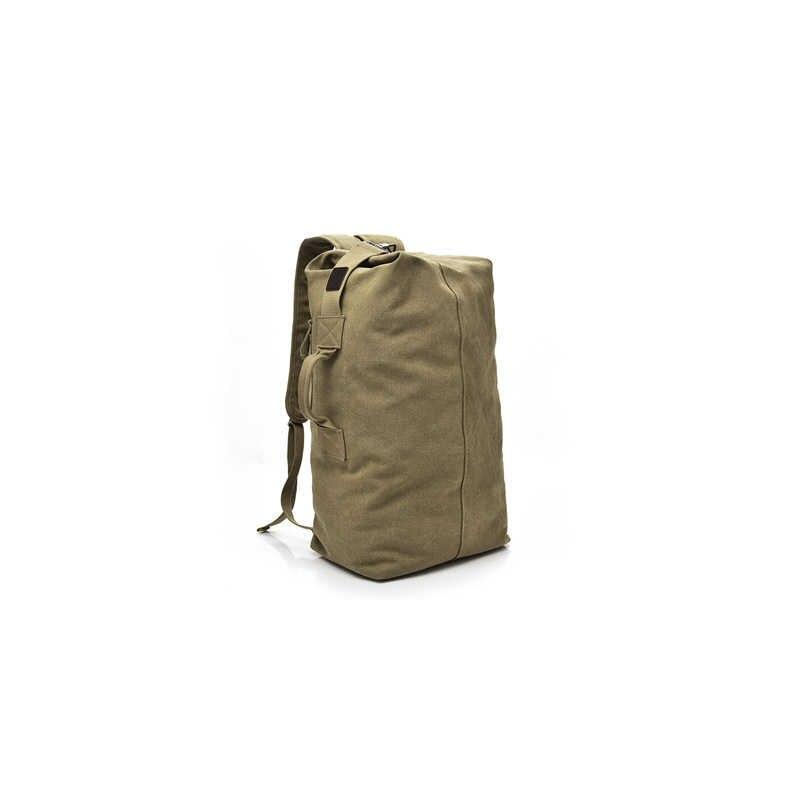 Большой емкости мужские повседневные Рюкзаки для путешествий Сумки холщовые хаки черные армейские зеленые альпинистские сумки Прямая поставка FH123