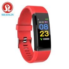 Inteligentna opaska na rękę inteligentny Monitor aktywności fizycznej w zegarku taśma monitora tętna inteligentna bransoletka Smartwatch sportowy