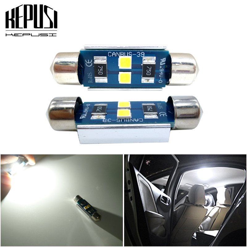 2Pcs Car Led C5W C10W Festoon Lamp 12V white License Plate Lights For <font><b>AUDI</b></font> 8P B5 B6 A6 4B <font><b>A8</b></font> <font><b>D2</b></font> TT Q7 4F A4 A2 A3 8L image