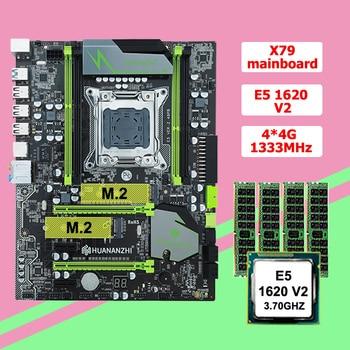 HUANANZHI X79 LGA2011 motherboard with dual M.2 SSD slot discount motherboard CPU RAM combo Intel Xeon E5 1620 V2 RAM 16G RECC 1