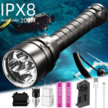Super bright dive torch XML T6 L2 most professional diving flashlight 200M Underwater IPX8 Waterproof 18650 Flashlights sitemap 19 xml