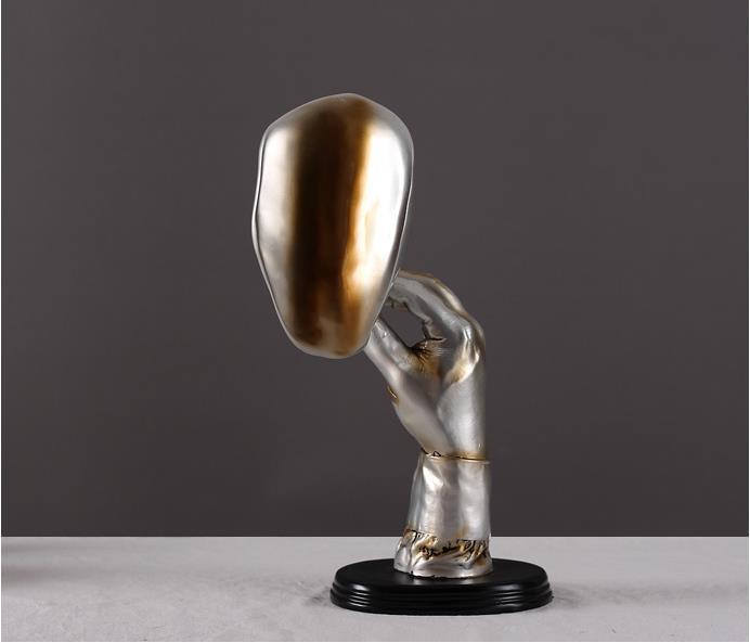 Retro meditadores abstrata escultor charuto homem criativo