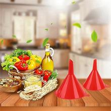4pcs Set Multi Use Plastic Funnel Oil Filling Funnel household kitch Liquid Petrol Funnel Kits Red household kitch