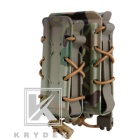 KRYDEX 5.56mm 7.62mm + 9mm Pistol Magazine Pouch kit Tactical Hunting Shooting MOLLE Magazine Holder Poly Mag Carrier Holder Set