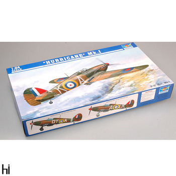 Trumpeter 02414 1:24 British Hurricane Mk. I Fighter Plane Aircraft Military Assembly Plastic Model Building Kit image