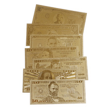 Gold Banknote Paper-Money Currency 1-Dollar Coin-Medal Bill USA 7pcs United-States