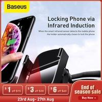 Baseus 15W Auto Drahtlose Schnell Ladegerät Halter Fahrzeug Automotic Induktion Drahtlose Ladegerät Halter Für iPhone 12