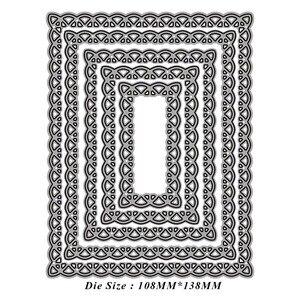 Image 3 - Прошитый гребешок прямоугольная рамка металлические режущие штампы DIY Выгравированные штампы ремесло изготовление бумажных карточек Скрапбукинг тиснение