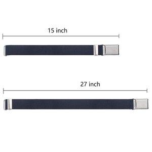 Image 4 - 9 estilos de cinturones magnéticos para niños pequeños para niños niñas, cinturón elástico ajustable magnético con hebilla magnética para niños
