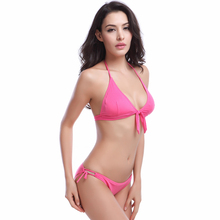 Sexy Bikini Vintage Removable Padding Bowknotted Top Women's Bandage Strappy Victoria Thong Bikini  Swimming Suit For Women горячие оптовые bowknotted top removable padding strappy 2016 victoria style cheap bikinis women dropshipping smlxl href