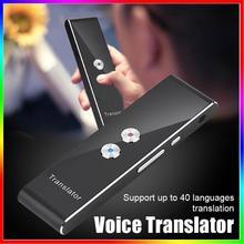 T8 портативный переводчик умный голосовой переводчик мгновенный в реальном времени Bluetooth для изучения путешествий 3 в 1 текст фото язык переводчик