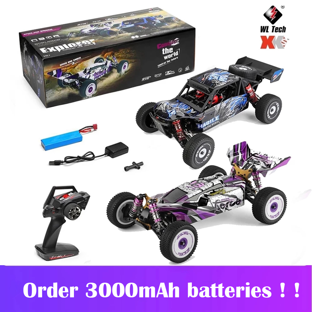 Wltoys 124019 / 124018 1/12 RC Car 60Km/h 2.4G 4WD High Speed Off-road Crawler RTR Climbing Adults Remote Control Car Toys Gift