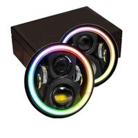 7 Inch Moblie Control RGB Round 60W Led Headlight for Wrangler JK TJ Offroad 4X4 Car Accessorice