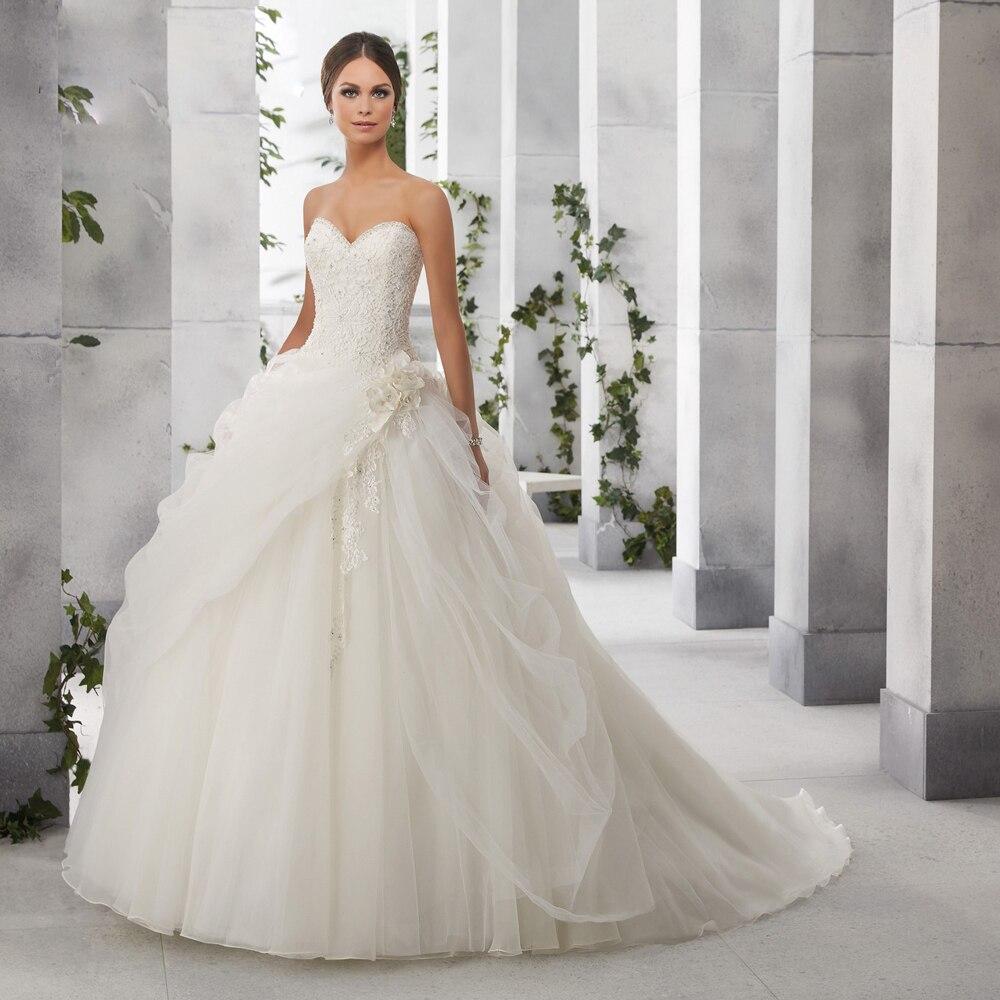 2018 New Design Ball Vestido De Noiva Sexy Sweetheart Neckline Full Appliques Bridal Gown Custom Mother Of The Bride Dresses