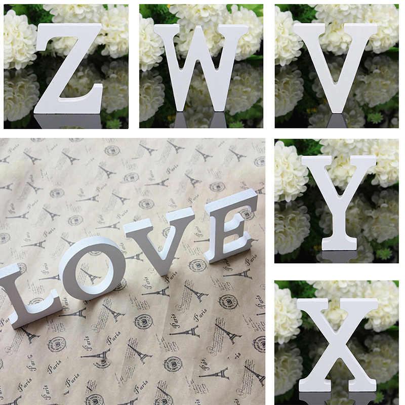 A-Z деревянные буквы алфавит слово свободно стоящая Свадебная вечеринка домашний декор