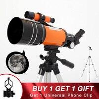 Profissional zoom telescópio astronômico com clipe de telefone ao ar livre hd visão noturna 150x refração espaço profundo lua assistindo presentes|Telescópio e binóculos|   -