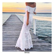 Women Dress Wedding Formal Sundress Long Prom Party Cocktail White Summer Women Dresses White(China)