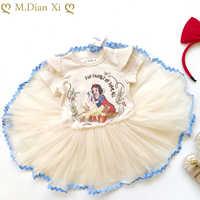 Vestidos blancos para niñas pequeñas, ropa de espectáculo, tutú, fiesta de cumpleaños
