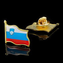 Slovenia Flag Lapel Badge Gold Waving Flag Badge Jewelry Pin Brooch Wear On Suits & Travel Bags шифоньер fiorellino slovenia детский фиореллино словения цвет white