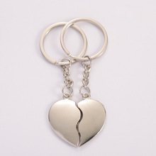 1Pair Couple Keychain Heart Key Rings Lovers Love Key Chain For Birthday Gift Souvenirs Valentine's Day Gift Lovers Couple Gift