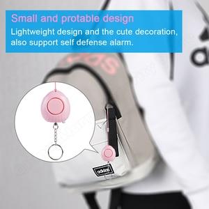 Image 3 - FUERS Alarm osobisty ochrona dla kobiet bezpieczeństwo w podeszłym wieku samoobrona Alarm 120dB głośny anty atak Alarm bezpieczeństwa pęku kluczy