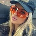 Vintage Übergroßen sonnenbrille frauen 2020 luxus marke klar shades brille Mode Retro Hohe Qualität Transparent Sonnenbrille